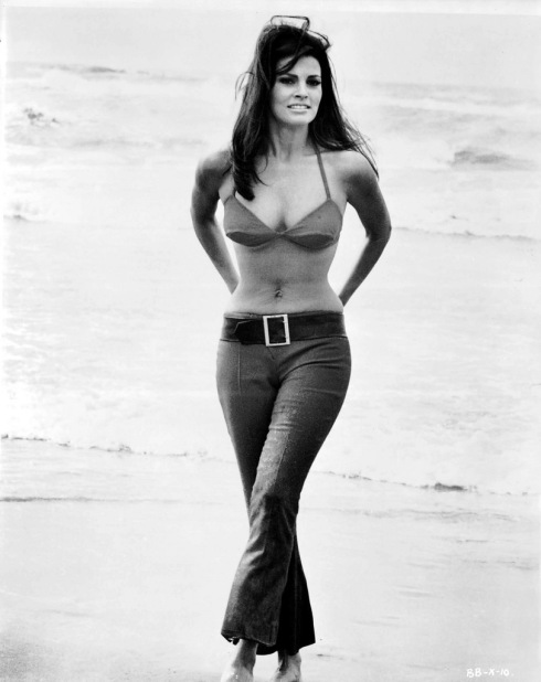 Raquel Welch on Beach