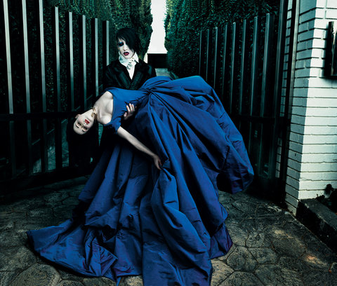 Dita Von Teese & Marilyn Manson in Vogue Magazine