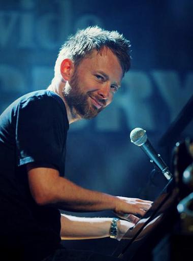 Thom Yorke Smiling