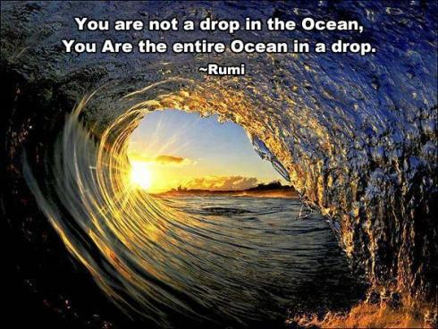Reflection for today...The Ocean of Consciousness -Rumi...