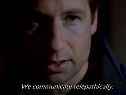 The X Files Telepathic Communication