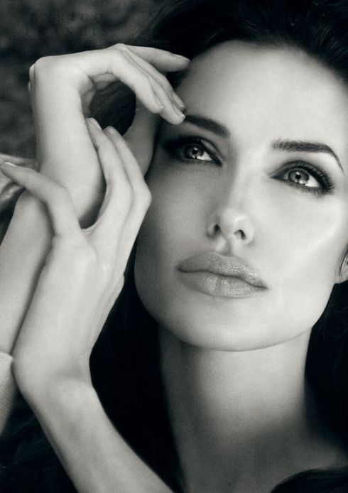angelina jolie black & white