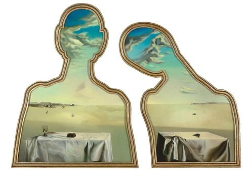 Salvador Dali Couple With Their Heads Full Of Clouds1