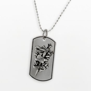 Loyal Unto Death Inox Dog Tag Necklace